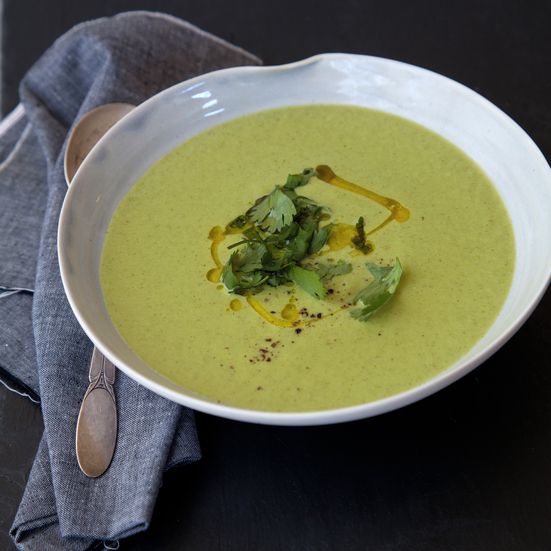 Lemony Coconut and Broccoli Soup