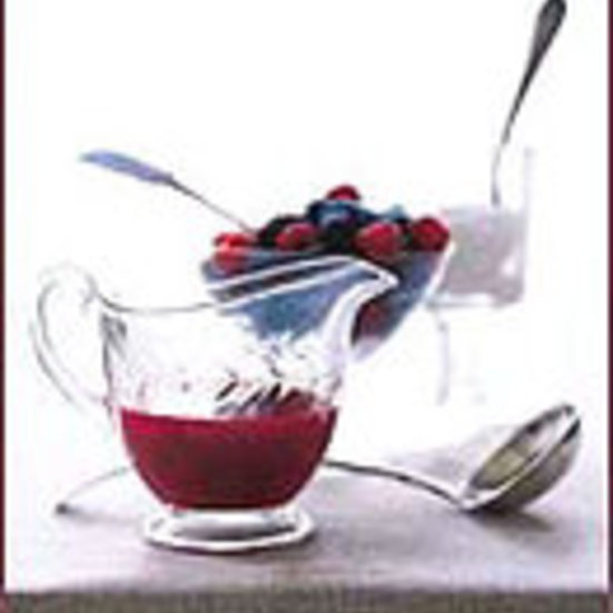 Mocha Panna Cotta with Cherry Coulis