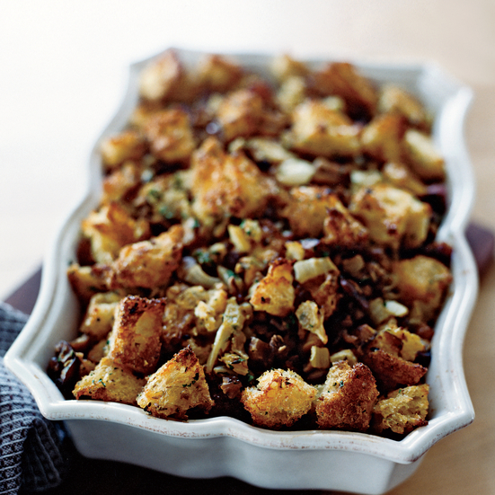 Chestnut Stuffing with Fennel