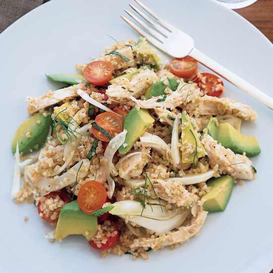 Chicken and Bulgur Salad with Avocado