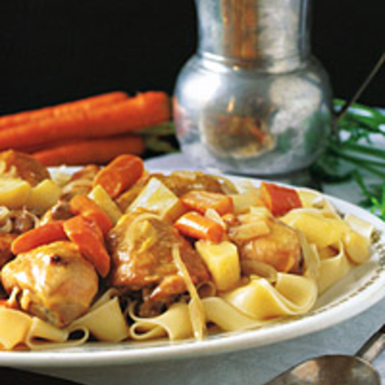 Chicken Stew with Cider and Parsnips