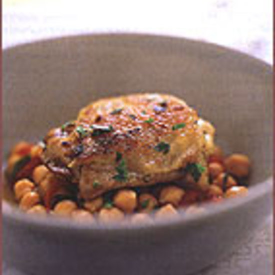 Bay Leaf-Braised Chicken with Chickpeas