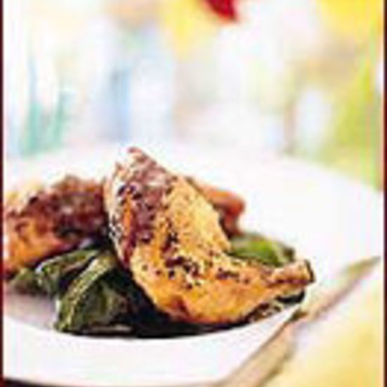 Parmesan Chicken with Balsamic Butter Sauce
