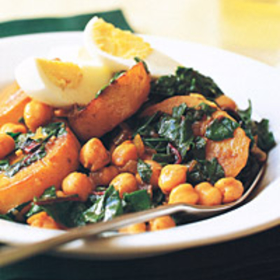 Swiss-Chard, Potato, and Chickpea Stew