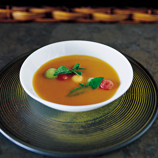 Chilled Tomato Soup with Melon