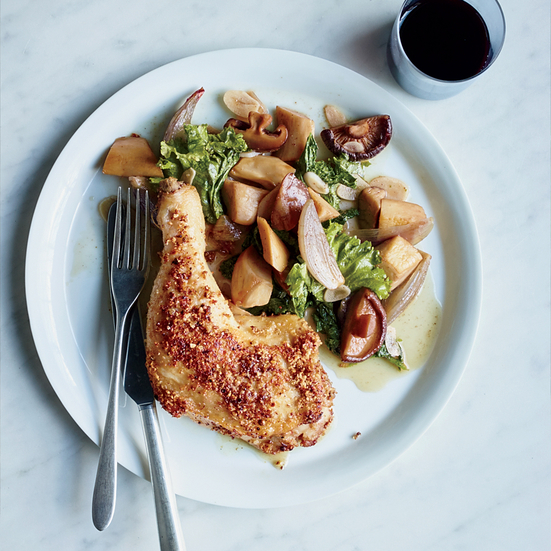 Coriander-and-Almond-Crusted Chicken Legs