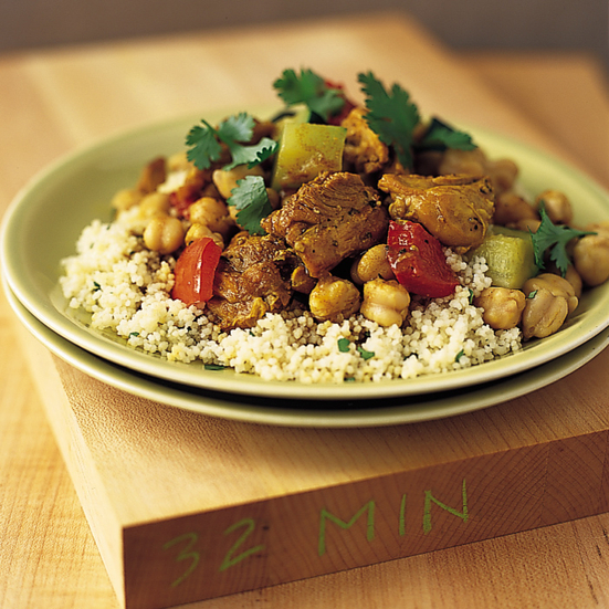 Couscous with Curried Chicken and Chickpeas