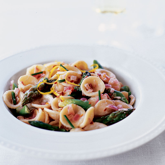 Creamy Goat Cheese and Asparagus Orecchiette RecipeScott Conant