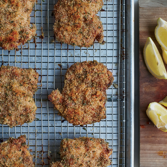 Crunchy Baked Chicken Thighs with Grainy Mustard and Garlic