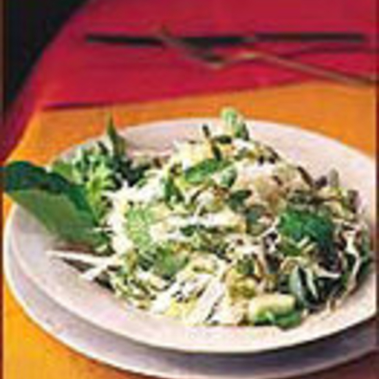Purslane Salad with Baby Greens and Cabbage