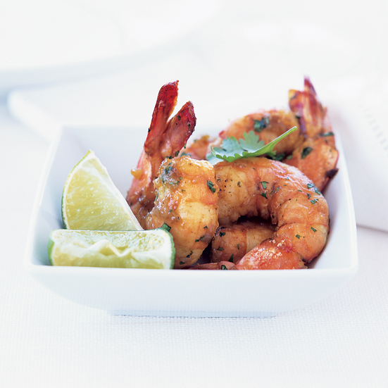 Curry-Roasted Shrimp with Chutney and Yogurt