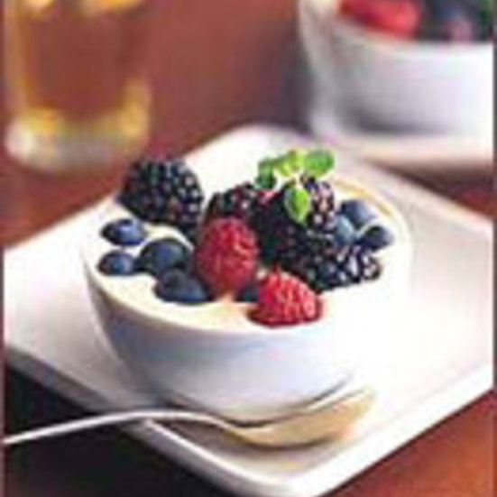 Mascarpone Custards with Summer Berries