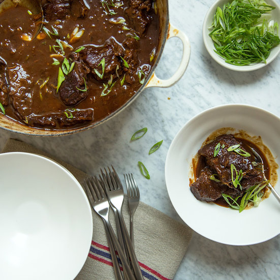 Dried-Cherry-and-Miso-Braised Short Ribs