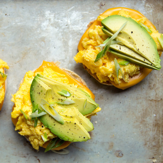 Scrambled Egg and Avocado Breakfast Sandwiches Recipe - Kay Chun ...