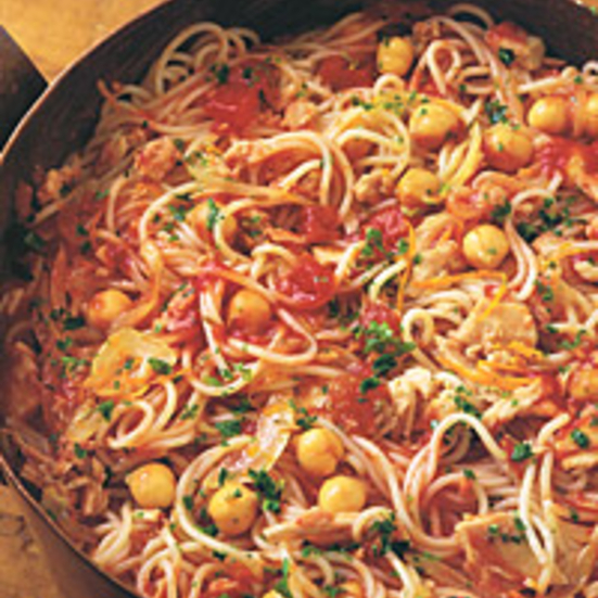 Fedelini with Tuna and Chickpeas