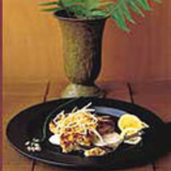 Smoked Fish Cakes with Root-Vegetable Slaw