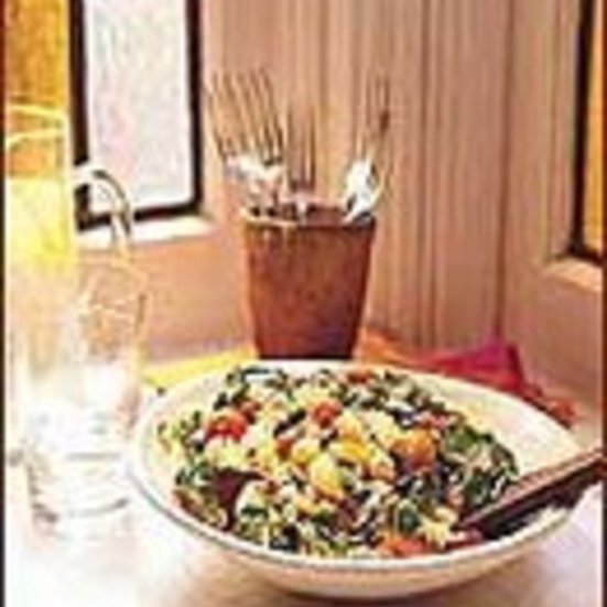 Warm Fusilli with Tomatoes and Watercress