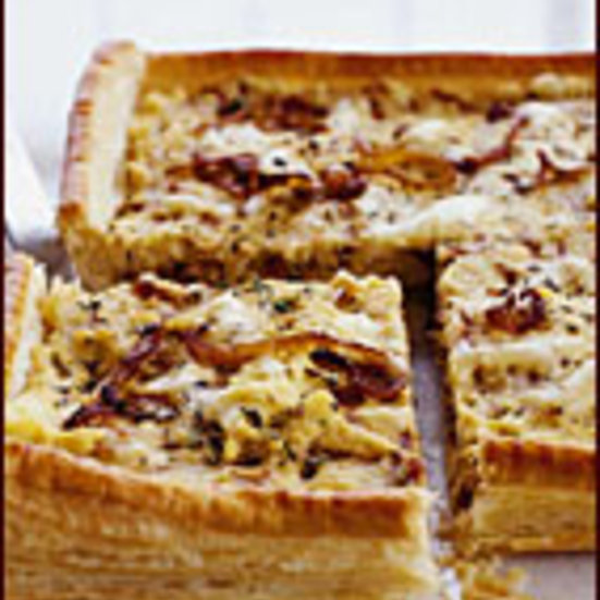 Caramelized Onion and Polenta Tart