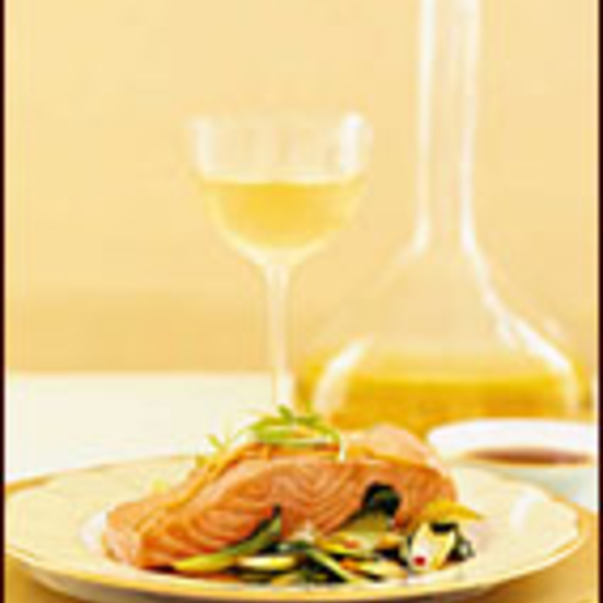 Steamed Ginger Salmon with Stir-Fried Bok Choy