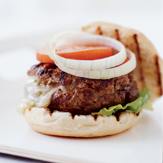 Chile-Stuffed Cheeseburger