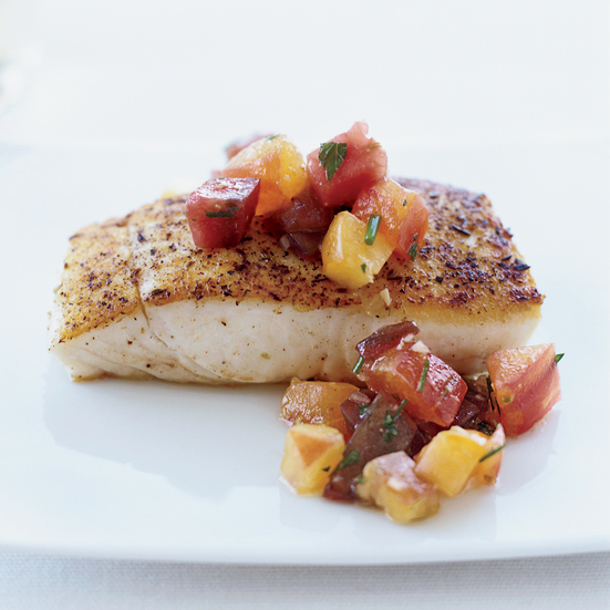 vinaigrette pan roasted halibut with caper vinaigrette caper halibut ...