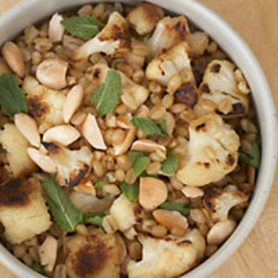 Wheat Berries with Cauliflower, Almonds and Mint