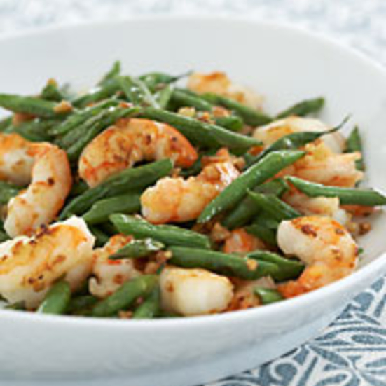 Stir-Fried Green Beans with Shrimp and Garlic