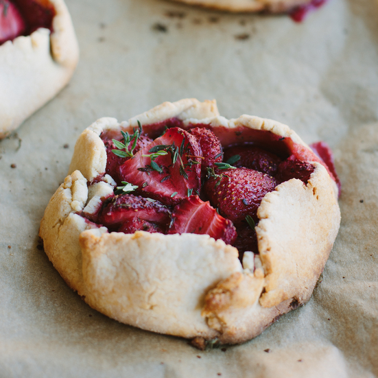 Strawberry-Thyme Tarts