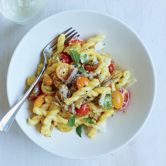 Gemelli with Peach and Yellow Tomato Pork Ragù