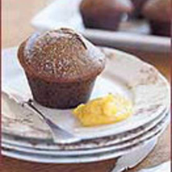 Peppered Ginger Spice Muffins with Orange Maple Butter