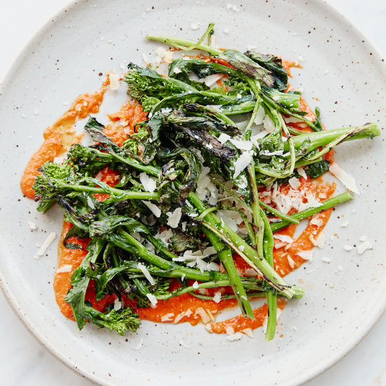 Grilled Broccoli Rabe with Salsa Rossa Recipe - Andrew ...
