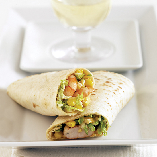 Grilled Shrimp and Corn Wraps