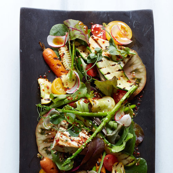 Grilled Tofu and Heirloom Tomato Salad