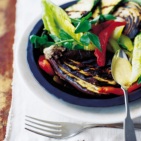 Grilled-Vegetable Salad with Cuban Mojo