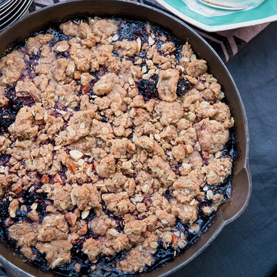Whole-Grain Cherry Crumble