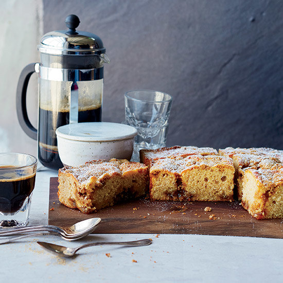 Crumb Cake with Pear Preserves