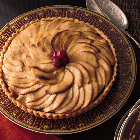 Apple Tart with Bananas and Cranberries