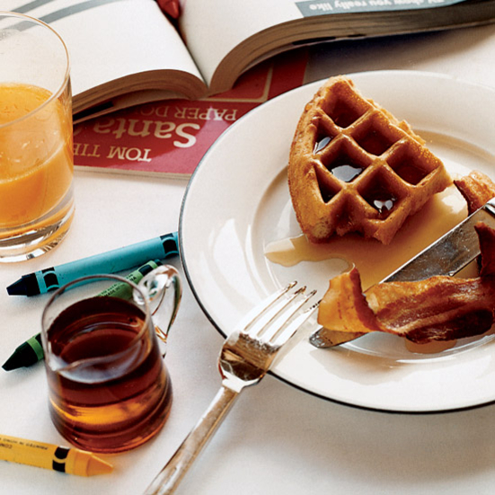 Cornmeal-and-Ricotta Waffles