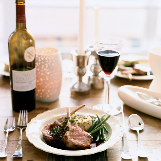 Herb-Roasted Rack of Lamb with Smoky Cabernet Sauce