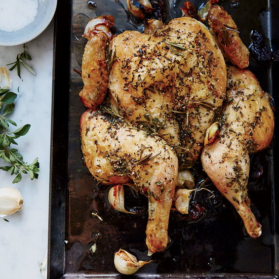 Herb-Roasted Spatchcock Chicken