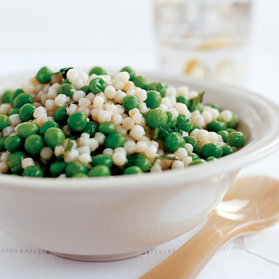 Israeli Couscous with Peas and Mint