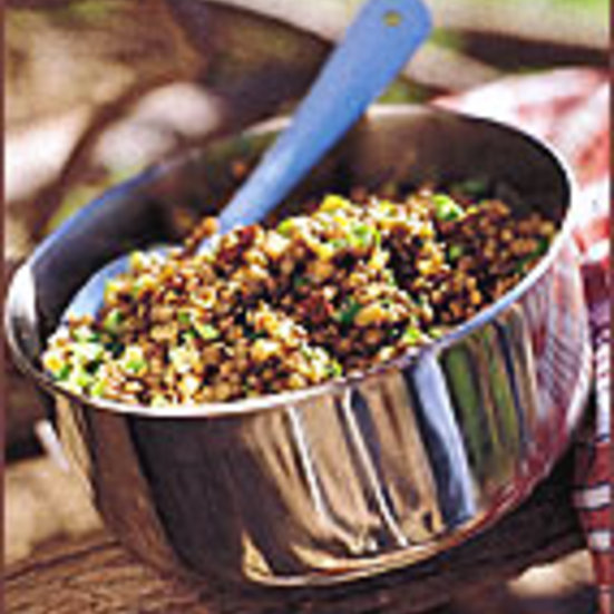Olive and Dried Tomato Lentil Salad