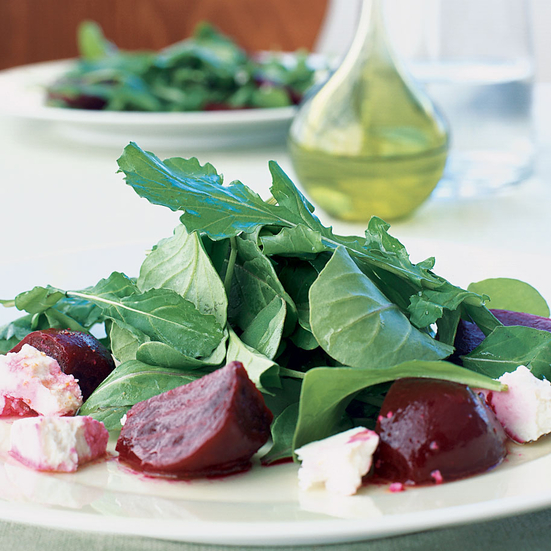 Moroccan Arugula Salad With Beets and Ricotta Salata