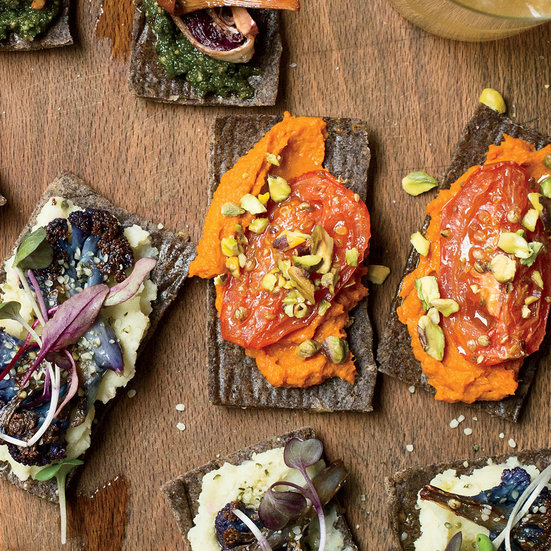 Moroccan Flatbreads with Roasted Tomatoes