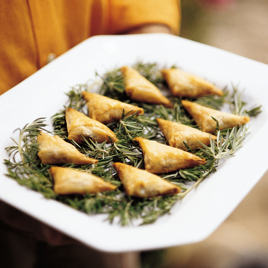 Mushroom and Goat Cheese Phyllo Triangles