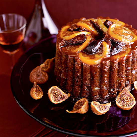 Orange-Figgy Steamed Pudding