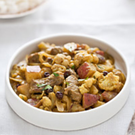Coconut Lamb Curry with Potatoes and Cauliflower