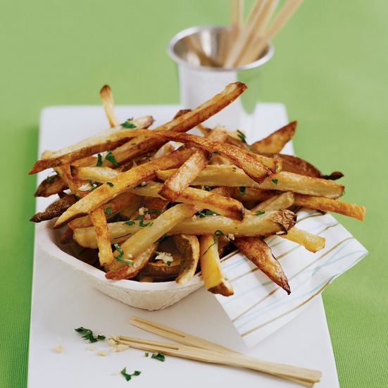 Oven Fries with Garlic and Parsley