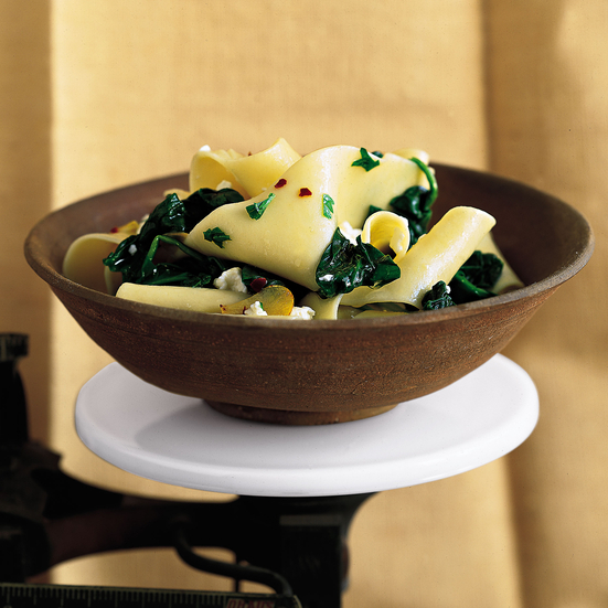Pappardelle with Spinach and Feta
