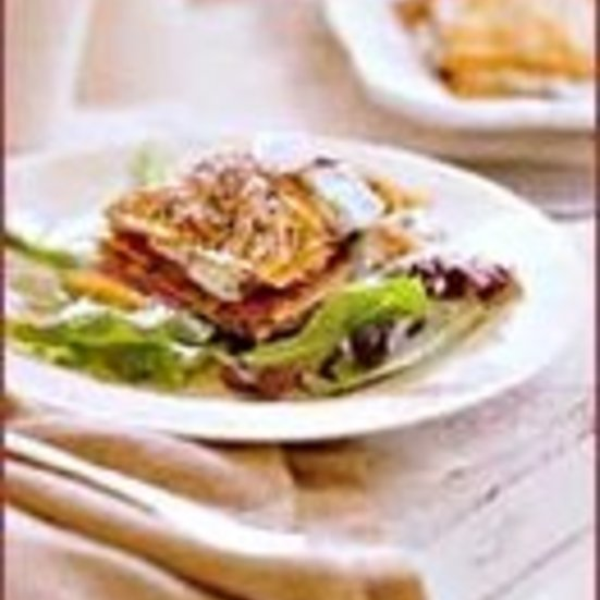 Indian-Spiced Phyllo and Smoked Salmon Napoleons